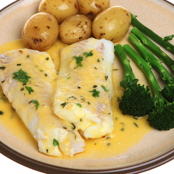 Lemon baked haddock with baby potatoes recipe - Potatoes choose depending food want prepare ...