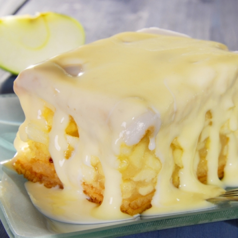Apple Cake With Warm Butter Sauce